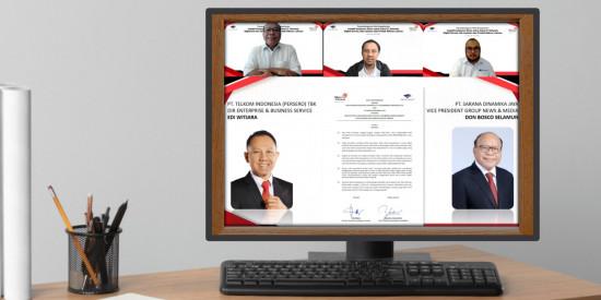 Perkuat Infrastruktur Digital Ekosistem Bisnis Media, Telkom Jalin Kerja Sama dengan Media Group